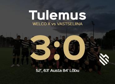 Welco X - Vastseliina 3-0